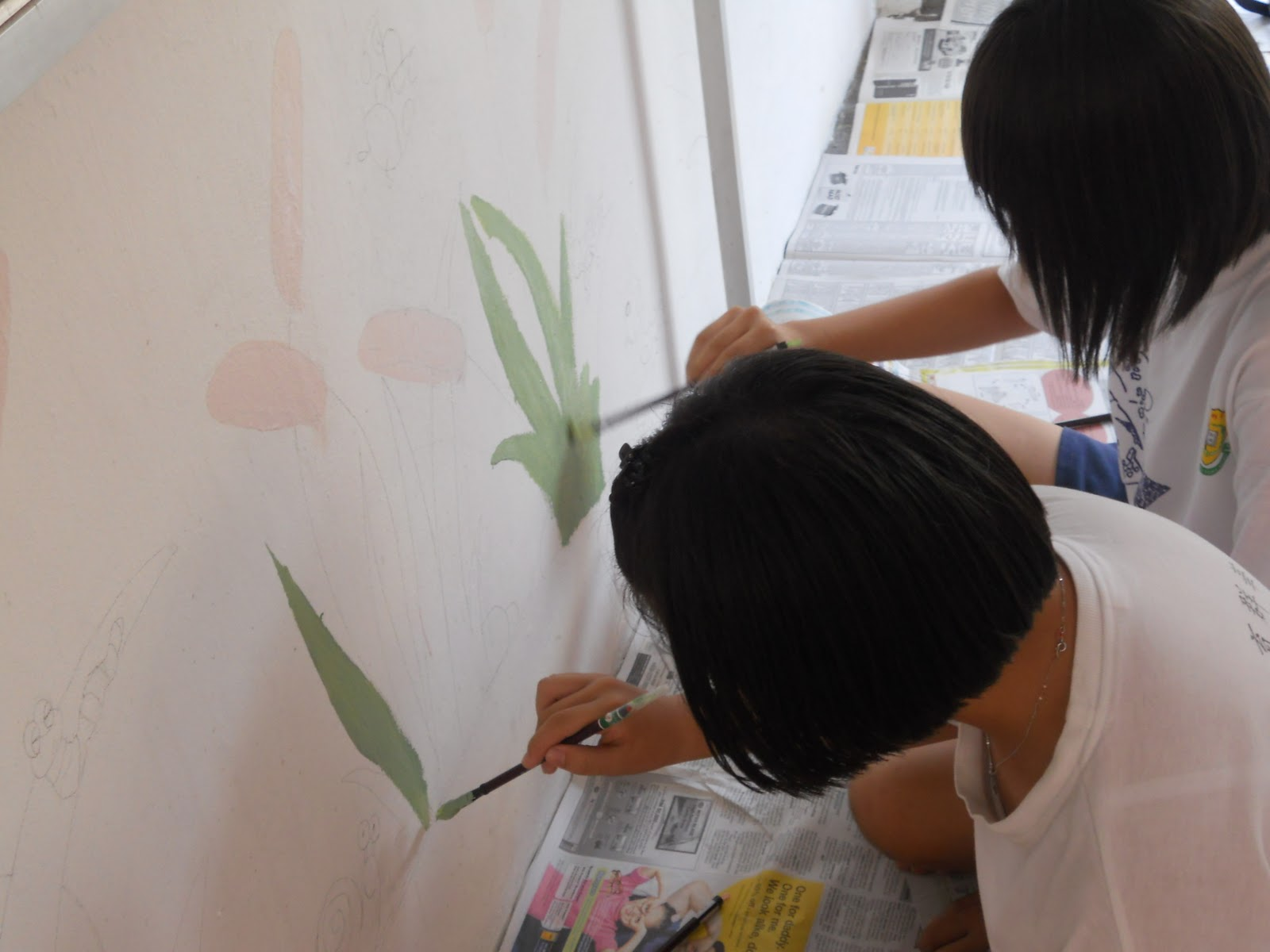 Become a better you with art 2011 10 16 for Mural sekolah yang cantik