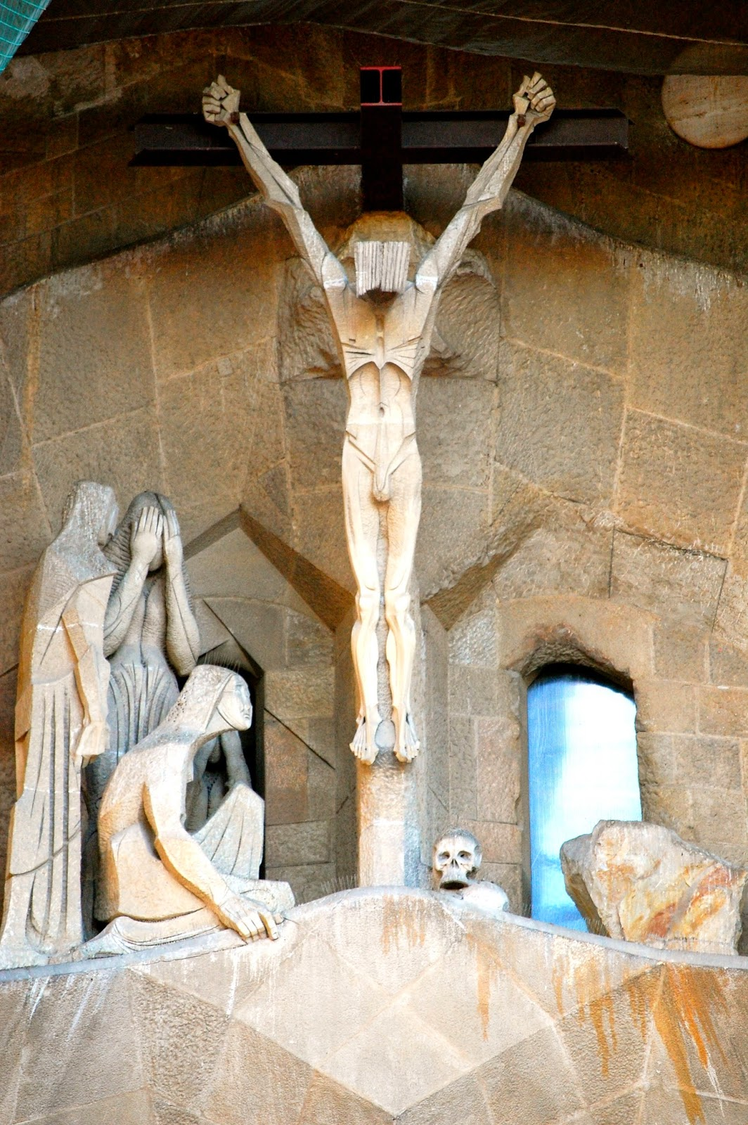 Carving of crucifixion and death of Jesus, Passion Facade, Sagrada Família