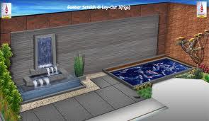kolam minimalis taman rumah mungil