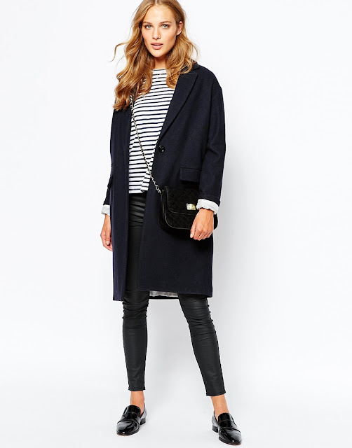sessun navy coat, sessun oversized coat, sessun wool coat,