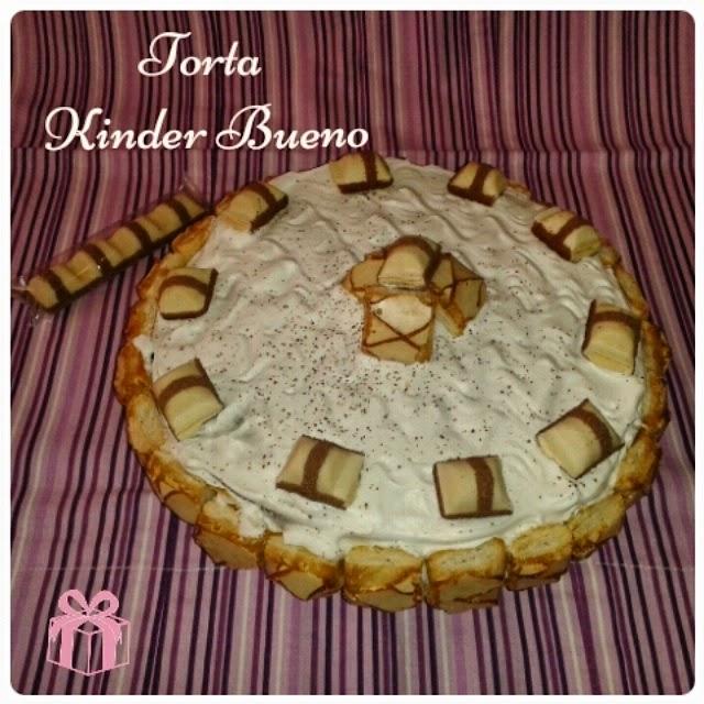 torta kinder bueno white