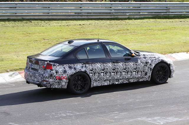 Spotting the upcoming  2014 BMW M3 F80 SEDAN  at Nurburgring seems to become a routine these days. A new spy video gives us a look at an M3 prototype during a high-speed testing session at the famous race track.The 2014 BMW M3 F80 SEDAN drops the V8 naturally-aspirated engine in favor of a new 3.2 liter inline-six engine that sources say will develop around 450 horsepower.