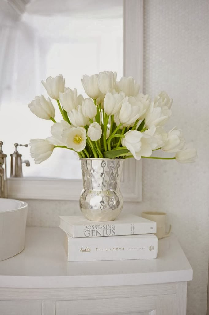 Splendid sass mary douglas drysdale for american standard for Silver and white bathroom decor