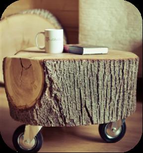 4 family muebles hechos con troncos de rbol for Muebles con troncos