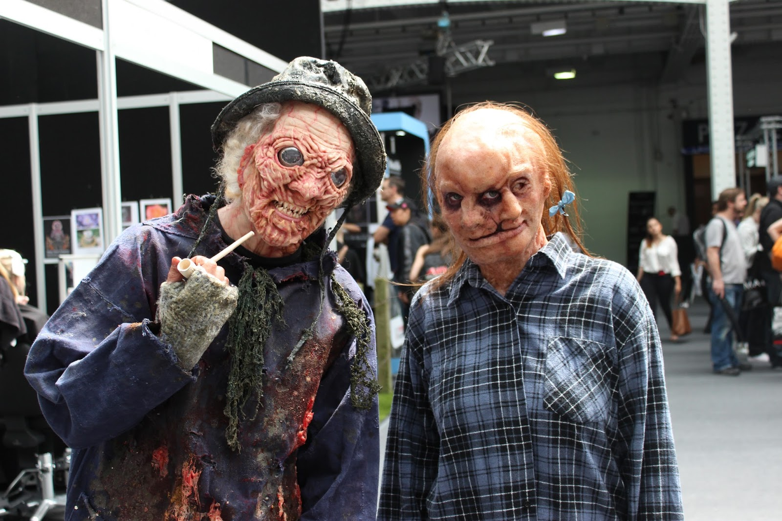 IMATS london 2014 body painting zombie prosthetic faces