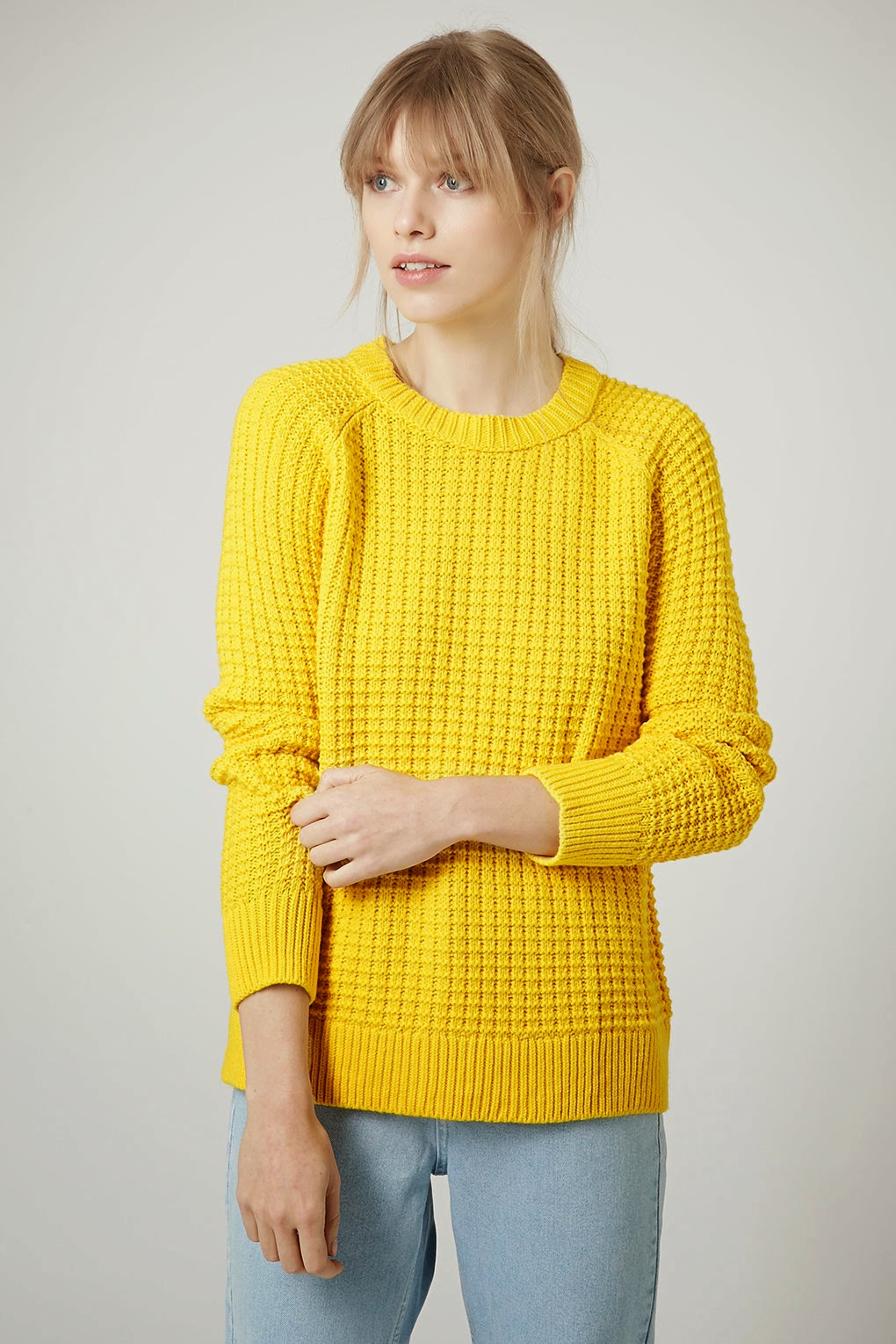 yellow topshop jumper