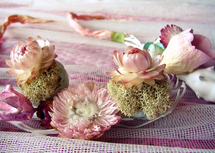 matrimonio collana fiori stile bohemian