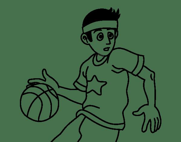 Blog MegaDiverso: Baloncesto para pintar dibujos