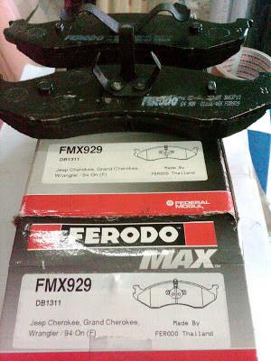 Kampas Rem depan KIA Carnival Single Piston (Ferodo MAX)