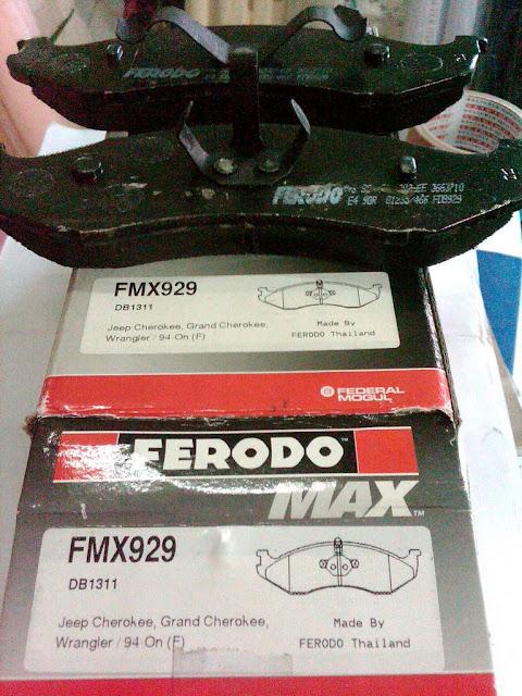 Kampas Rem Jeep Cherokee merk Ferodo MAX