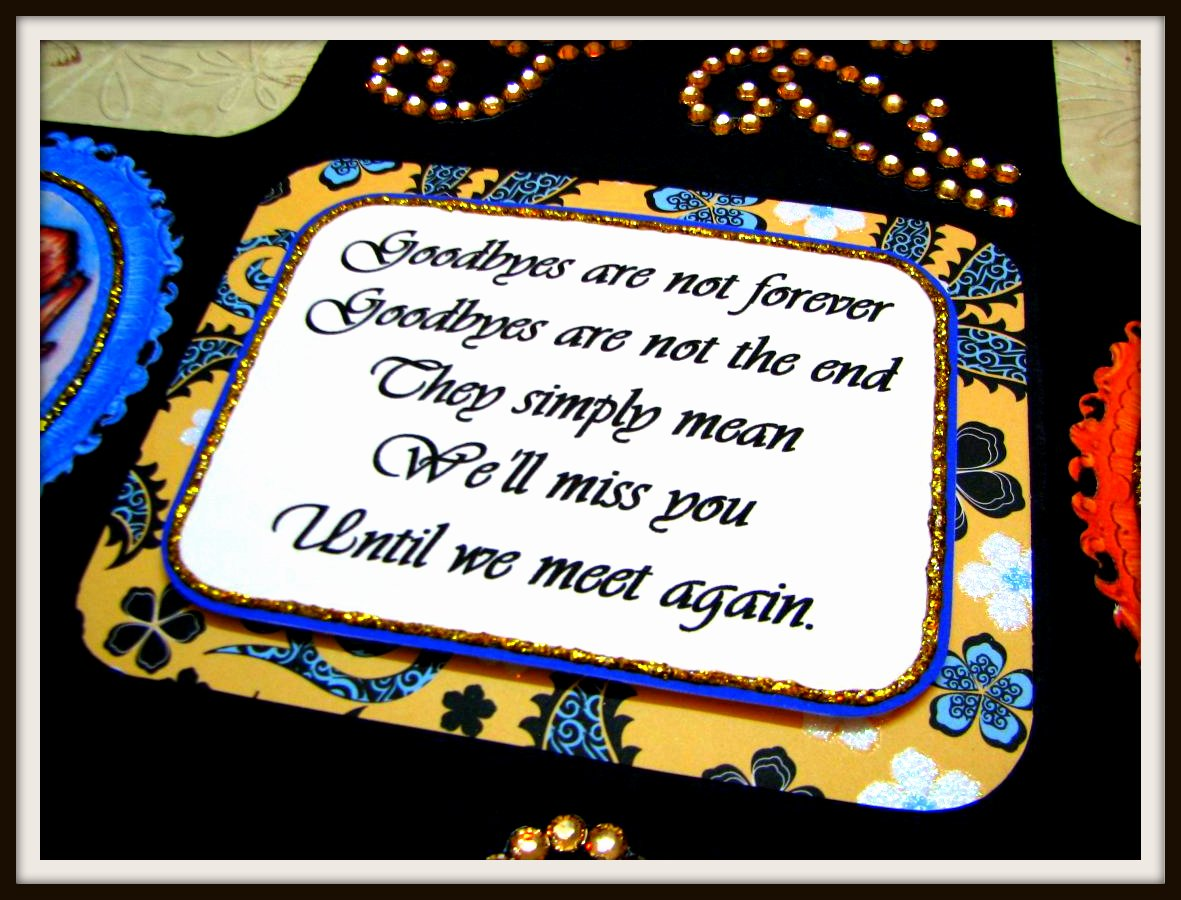 Pretty As Paper Farewell Tri Shutter Card