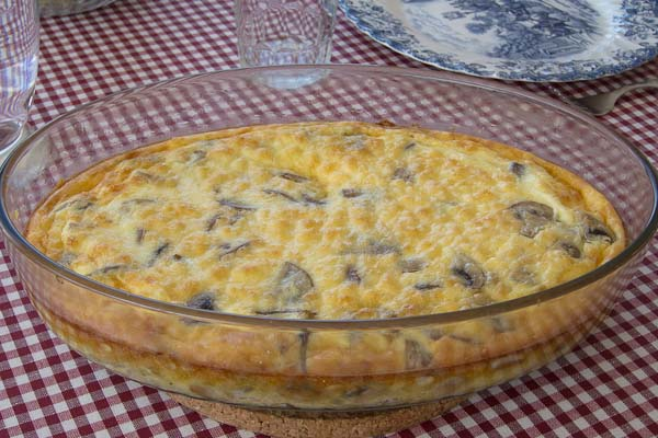 omelett i ugn med skinka