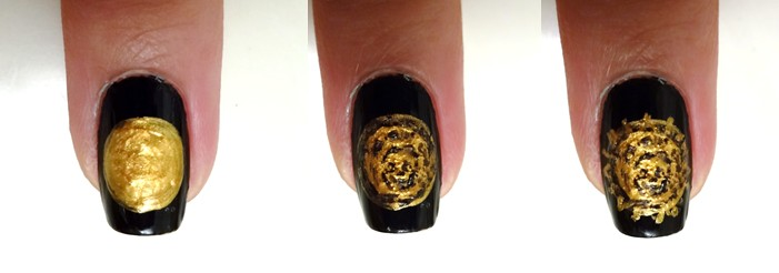 Gold Coin Nail Art