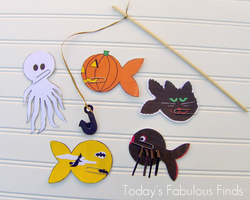 Todays Fabulous Finds Printable Halloween Fishing Game