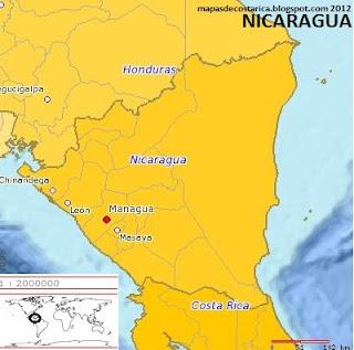 NICARAGUA  planiglobe  2012