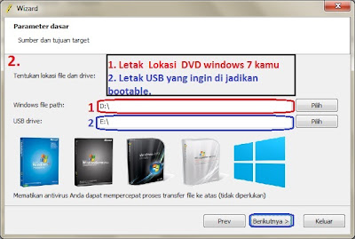 Cara Instal Windows 7 di NoteBook Dengan USB