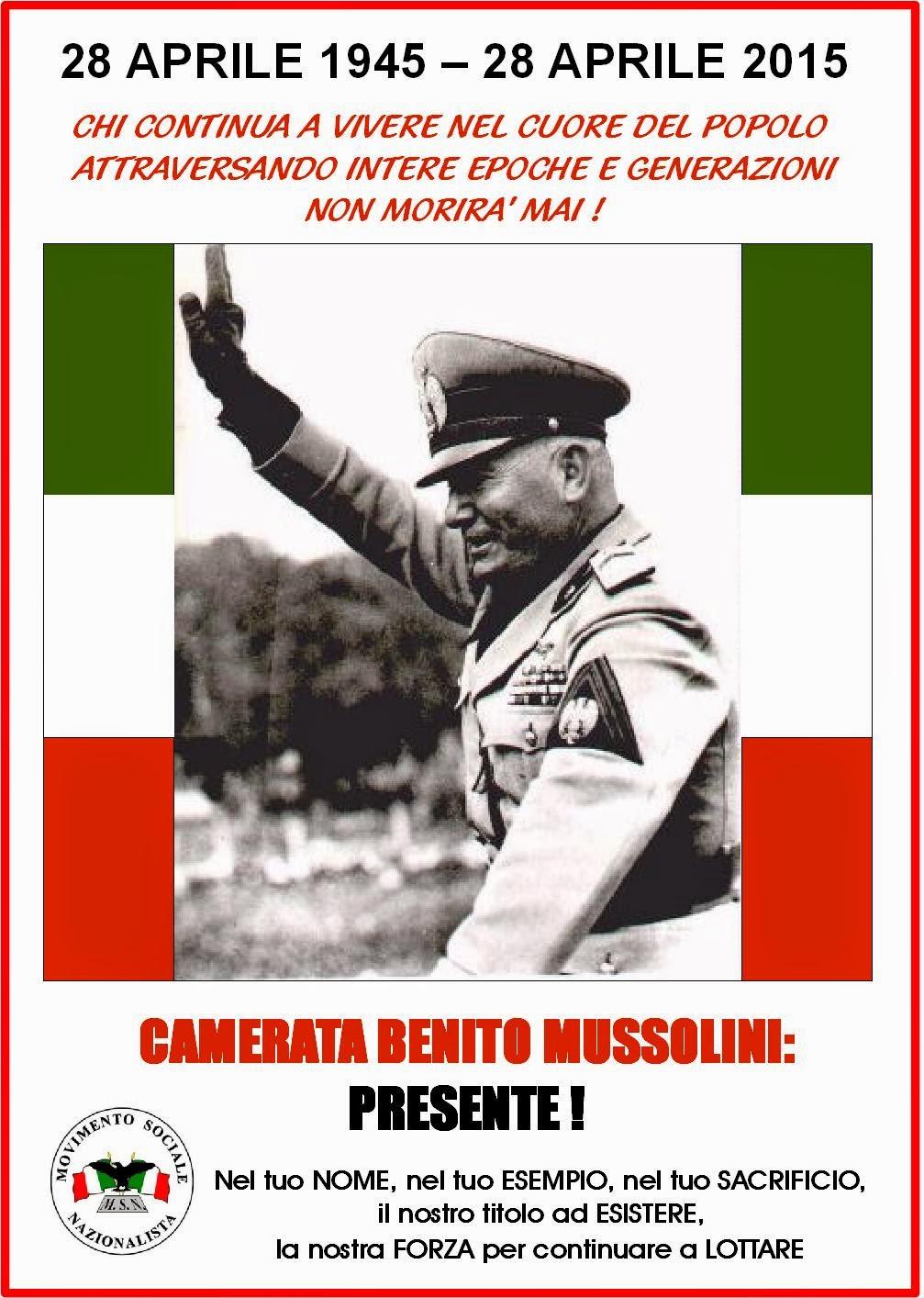 In ricordo di Mussolini