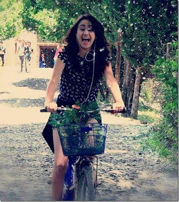 Nepali Actress Model Swastima Khadka Riding Bycyle