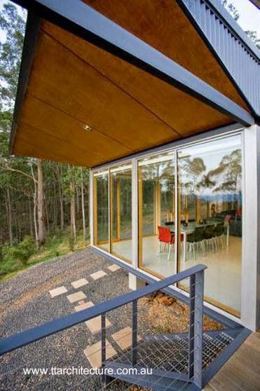 Detalle de la arquitectura en un sector de la casa