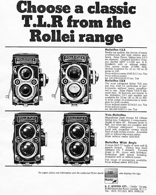 Vintage Rollieflex advert. Tim Irving