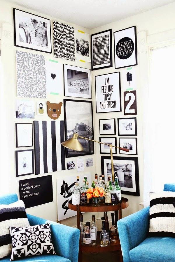 Como organizar quadros nas paredes