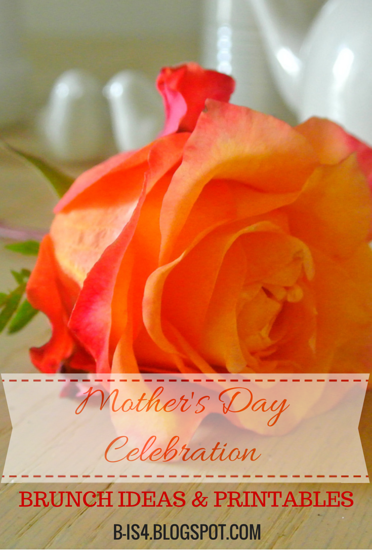 Mother's Day Printables and Brunch Ideas