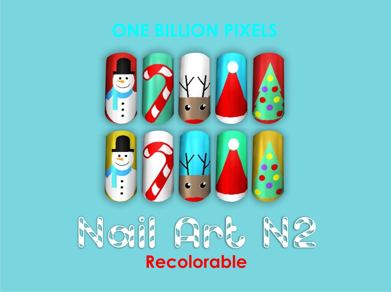 Christmas Gift Part 3 Nail Art N2 One Billion Pixels