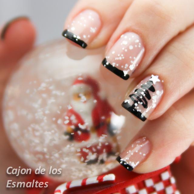 uñas navideñas decoración navidad 2014