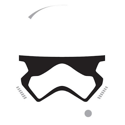 "Star Wars: The Force Awakens ""Minimalist First Order Stormtrooper"" T-Shirt by Super7"
