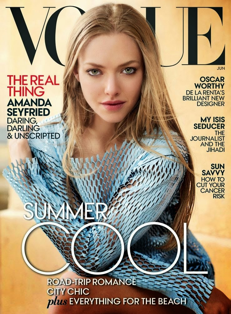 Actress, Singer, Model @ Amanda Seyfried by Mario Testino for Vogue US, June 2015
