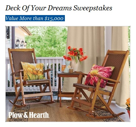 Deck of your dreams sweepstakes