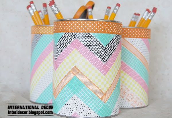 pen holder,Washi Tape crafts, ideas,projects
