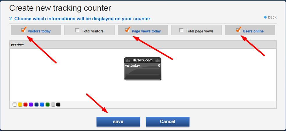 Cara memasang counter code di histats