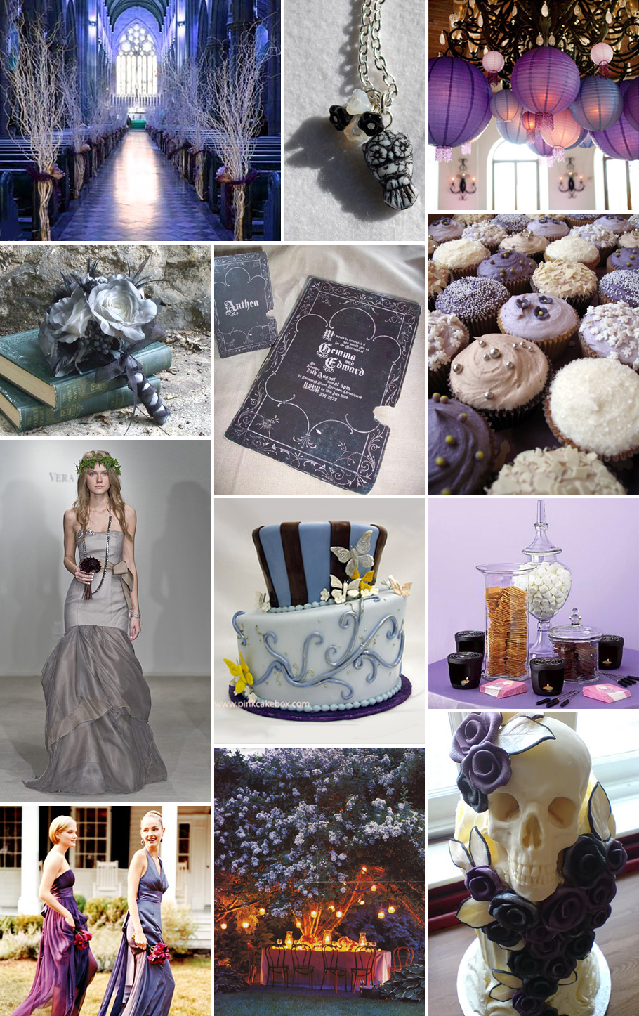 Your wedding support get the look halloween themed wedding for Wedding party ideas themes