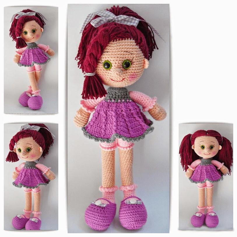 волосы для куклы из вязаной пряжи