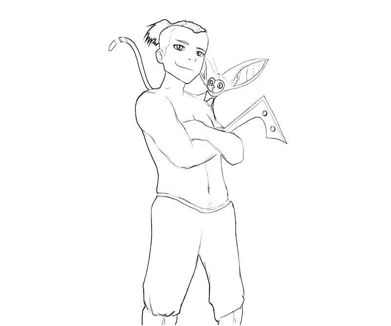 avatar-sokka-skill-coloring-pages