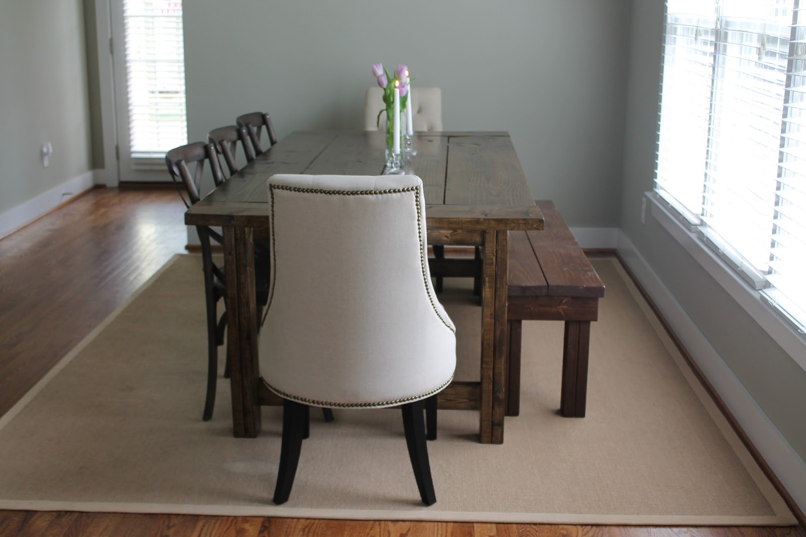 Carolina Charm: {DIY} Farmhouse Dining Table