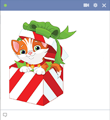 Christmas Kitty Cat for Facebook