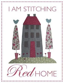 BOM Red Home Applique Quilt