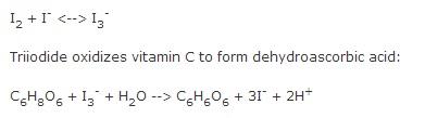 assay of ascorbic acid by redox titration