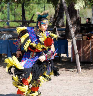 Native Indian Dance during Salmon Festival - Leavenworth washington usa