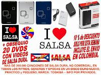 DISCO DURO DE 1 TB (MIL GIGAS) LLENO DE SALSA DURA PARA LA VENTA/FOR SALE.
