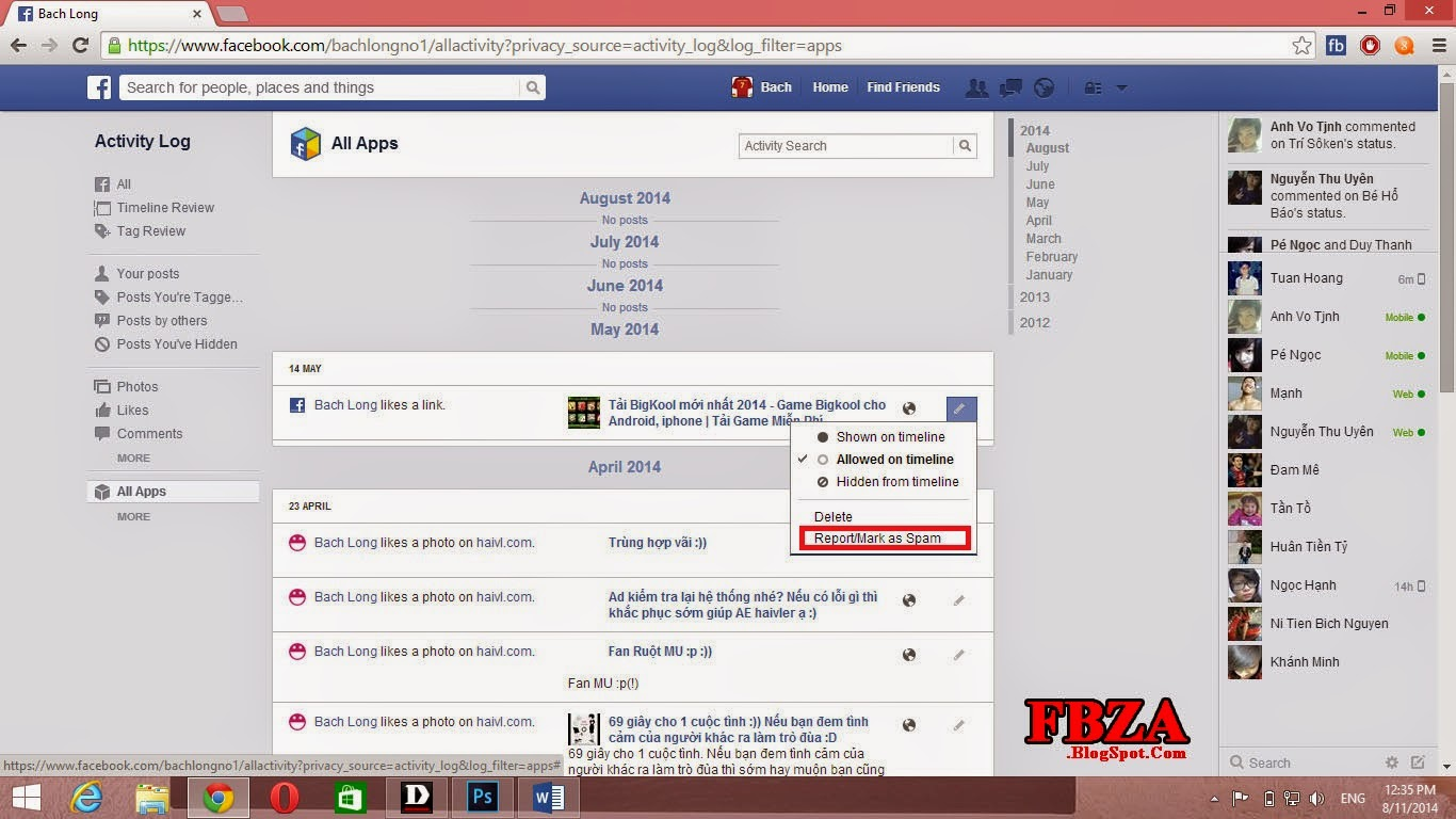 how to delete post from facebook timeline that is hidden