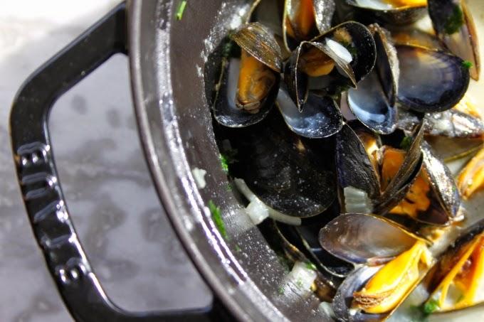 (Recette) Moules marinières anti-grisaille !