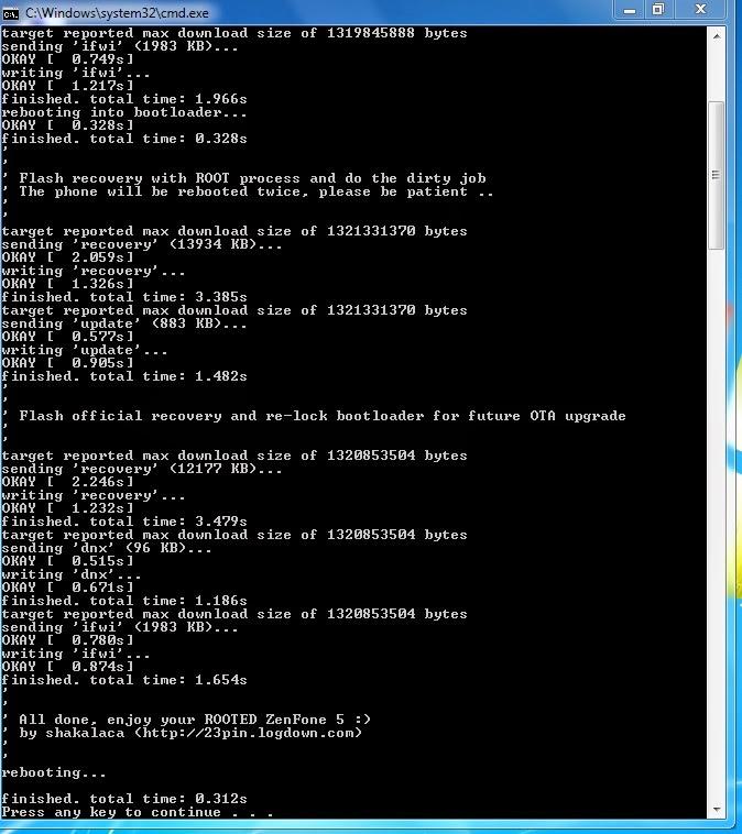 Berhasil Root Asus Zenfone 5 KitKat