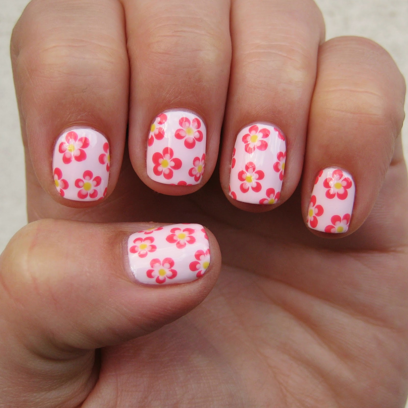 Pink Daisy Nail Design ~ Best images about sensationail on rose
