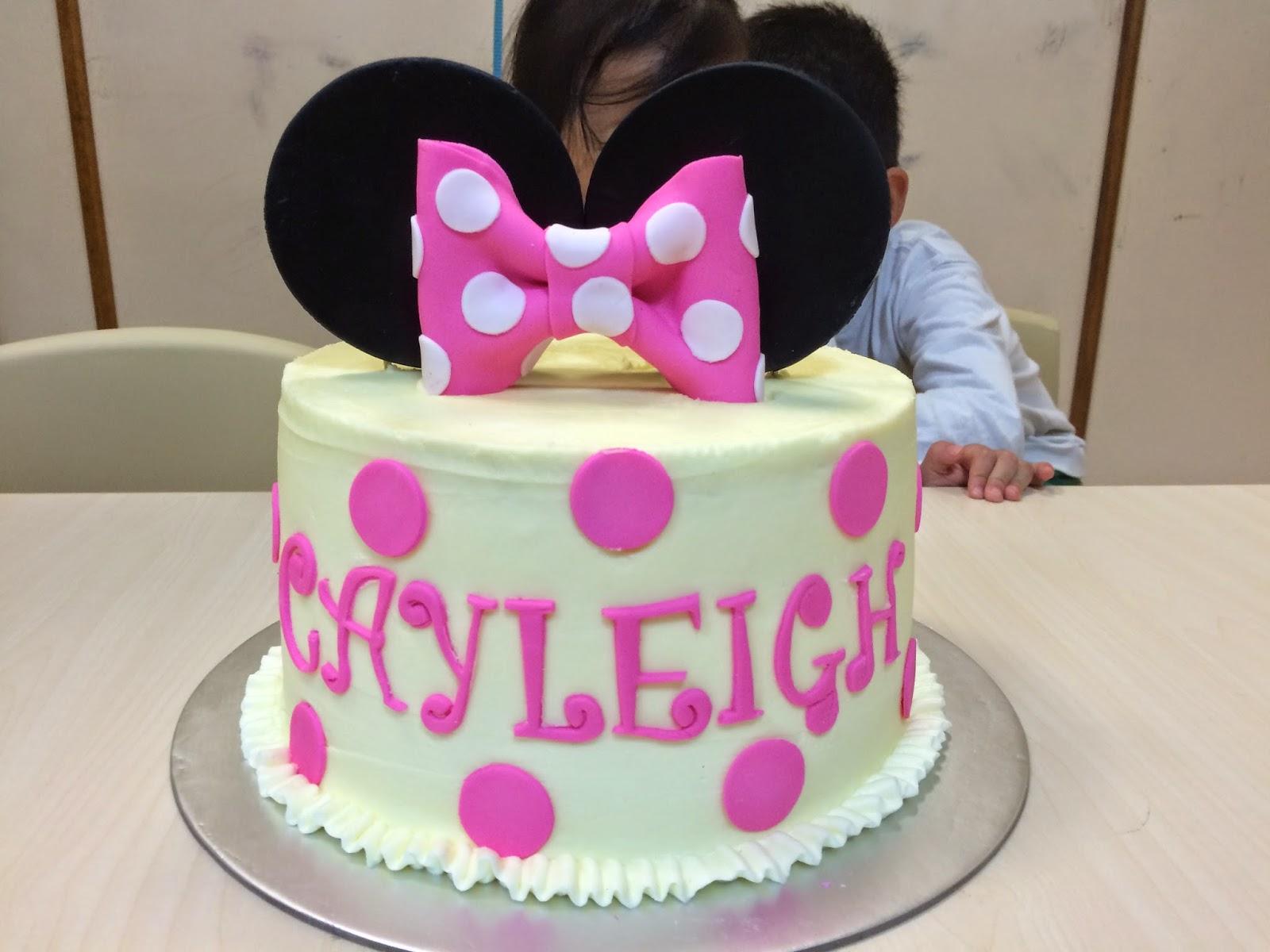 Pink polkadots Minnie Mouse Cake Crissas Cake Corner