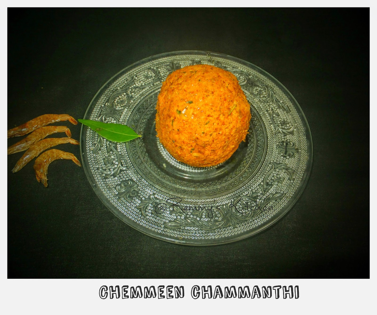Unakka chemmeen chammanthi/Dry prawn chutney
