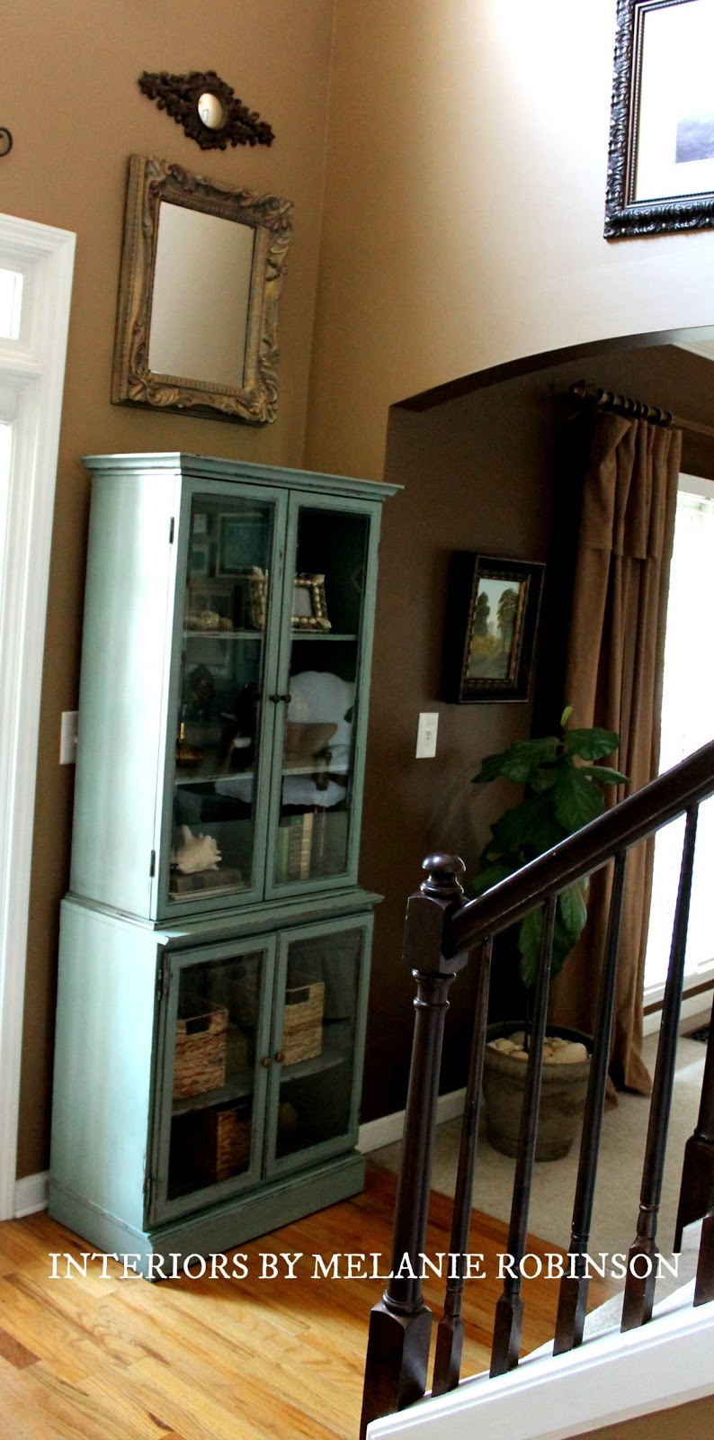 Mermaid Net By Behr Distressed Amp Aged Book Cabinet