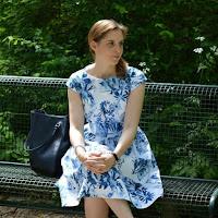 Tragefotos Sommerkleid mit Porzellandruck